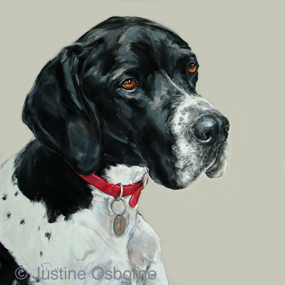 painting of an english pointer